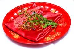 Accesorios de la ceremonia de boda china Fotografía de archivo
