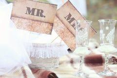 Accesorios de la ceremonia de boda del vintage Fotografía de archivo libre de regalías