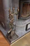Accesorios de la chimenea Imagen de archivo libre de regalías
