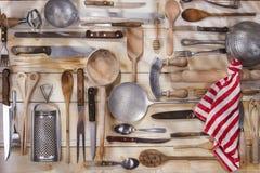 Accesorios de la cocina Foto de archivo libre de regalías
