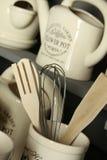 Accesorios de la cocina decoración Fotografía de archivo libre de regalías