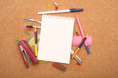 Accesorios de la escuela. Foto de archivo libre de regalías
