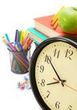Accesorios de la escuela. Fotos de archivo