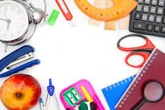 Accesorios de la escuela. Imagen de archivo