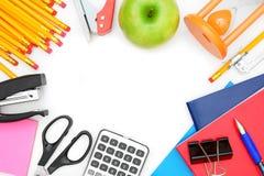 Accesorios de la escuela. Imágenes de archivo libres de regalías