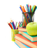 Accesorios de la escuela. Fotografía de archivo