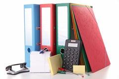 Accesorios de la escuela o del asunto Imagenes de archivo