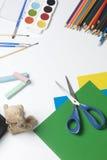 Accesorios de la escuela para la creatividad Imagen de archivo