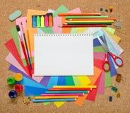 Accesorios de la escuela y de la oficina Imagenes de archivo
