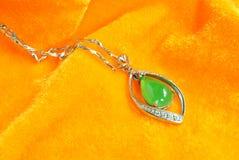 Accesorios de la joyería del jade Imagen de archivo