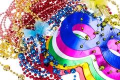 Accesorios de la mascarada para los partidos de Mardi Gras Fotos de archivo libres de regalías