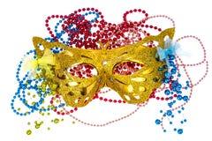 Accesorios de la mascarada para los partidos de Mardi Gras Imagen de archivo