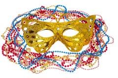 Accesorios de la mascarada para los partidos de Mardi Gras Imagenes de archivo