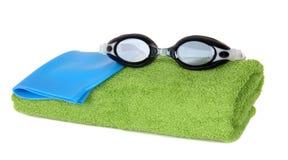 Accesorios de la natación Imágenes de archivo libres de regalías