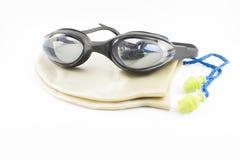 Accesorios de la natación Imagen de archivo libre de regalías