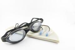 Accesorios de la natación Fotos de archivo libres de regalías