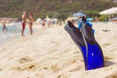 Accesorios de la natación de la playa del verano Imagenes de archivo