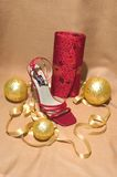 Accesorios de la Navidad imagen de archivo libre de regalías