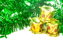 Accesorios de la Navidad y del Año Nuevo Imágenes de archivo libres de regalías