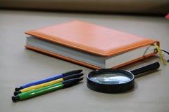 Accesorios de la oficina, oficina Imágenes de archivo libres de regalías