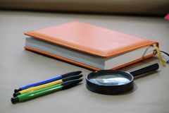 Accesorios de la oficina, oficina Fotos de archivo