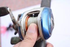 Accesorios de la pesca imagen de archivo