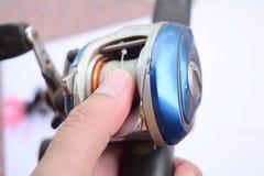Accesorios de la pesca imagen de archivo libre de regalías
