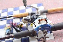 Accesorios de la pesca fotografía de archivo libre de regalías