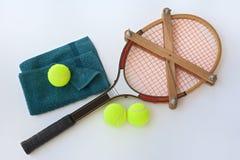 Accesorios de la pizca de la estafa de tenis del vintage Imagen de archivo