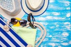 Accesorios de la playa Foto de archivo