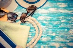 Accesorios de la playa Fotos de archivo