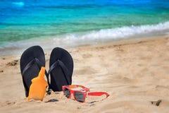 Accesorios de la playa Foto de archivo libre de regalías