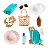 Accesorios de la playa Imagen de archivo libre de regalías