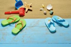 Accesorios de la playa Fotografía de archivo