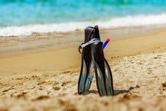 Accesorios de la playa del verano Fotografía de archivo libre de regalías