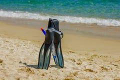 Accesorios de la playa del verano Imágenes de archivo libres de regalías