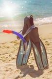 Accesorios de la playa del verano Imagen de archivo libre de regalías