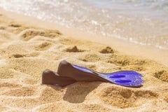 Accesorios de la playa del verano Fotos de archivo libres de regalías
