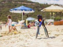 Accesorios de la playa del verano Imagenes de archivo