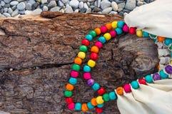 Accesorios de la playa en Pebble Beach Imágenes de archivo libres de regalías