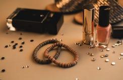 Accesorios de la ropa de la mujer de la moda fijados Imágenes de archivo libres de regalías