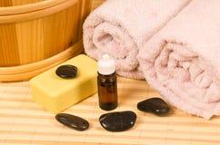 Accesorios de la sauna Imagenes de archivo