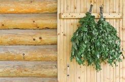 Accesorios de la sauna Fotos de archivo libres de regalías