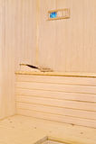Accesorios de la sauna en el interior Fotografía de archivo libre de regalías