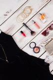 Accesorios de las mujeres de la moda fijados Foto de archivo