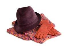 Accesorios de las mujeres - invierno Foto de archivo libre de regalías