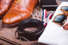 Accesorios de los hombres Fotografía de archivo libre de regalías