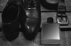 Accesorios de los hombres, aún vida Mirada del negocio Fotos de archivo