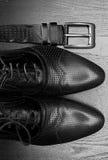 Accesorios de los hombres, aún vida Mirada del negocio Foto de archivo libre de regalías