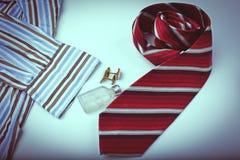 Accesorios de los hombres, aún vida Mirada del negocio Imagen de archivo libre de regalías